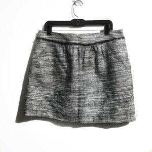 Gap Blue Metallic Mini Skirt Size 12